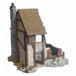 Half Timbered Ruined Village House
