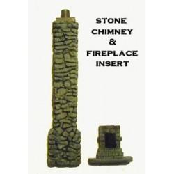 Stone Chimney w/fireplace