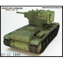 "KV-II KLIMENT VOROSHILOV"" 1940 Russian Heavy Assault Tank - 152mm Howitzer"""