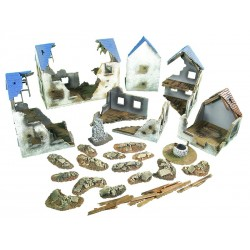 Ruined European Village Set