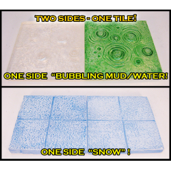 STONES TRANSLUCENT Double-sided Bubbling Water, Mud/Snow Tiles!