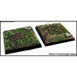 40mm Square Scenic Bases - Forest/Jungle Floor - 2