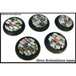 30mm Round Scenic Bases - Bricked/Stone - 5