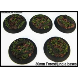 30mm Round Scenic Bases - Forest/Jungle Floor - 5