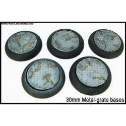 30mm Round Scenic Bases - Metal Grate - 5