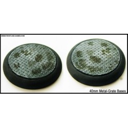40mm Round Scenic Bases - Metal Grate - 2