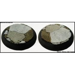 50mm Round Scenic Bases - Stone-slab - 2