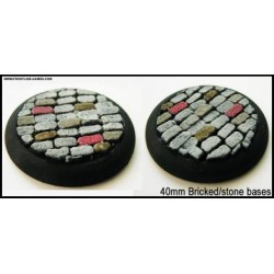 40mm Round Scenic Bases - Bricked/Stone - 2