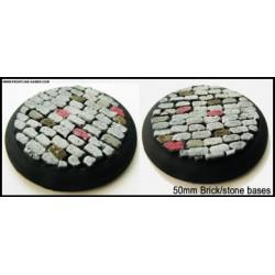 50mm Round Scenic Bases - Bricked/Stone - 2