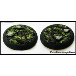 40mm Round Scenic Bases - Forest/Jungle Floor - 2