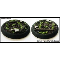 50mm Round Scenic Bases - Forest/Jungle Floor - 2