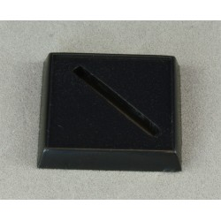 "NEW! 25 x 25mm SQUARE ""Lipped"" MINIATURE BASES! - Plastic"