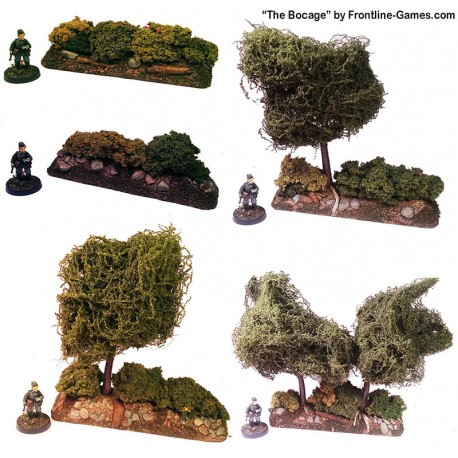 THE BOCAGE - Hedgerow Straight sections set 1