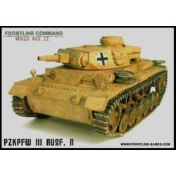 WWII German PzKpfw IIIN Tank 1/50th/28mm