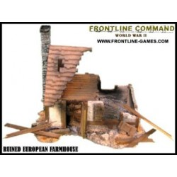 Half Timbered Ruined European Farmhouse
