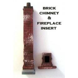 Brick Chimney w/fireplace