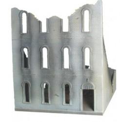 "City block Building 3 Arched windows"" Bricked"""