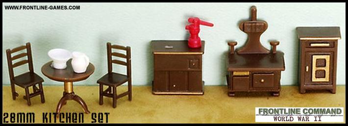 28mm Furniture   9 Piece Kitchen Set