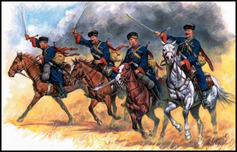Russian Soviet Cossack Cavalry Command 28mm Copplestone
