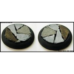 40mm Round Scenic Bases - Stone-slab - 2