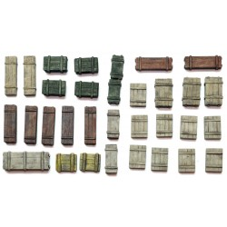 Crates set 1 28mm W W II TANK ACCESSORIES