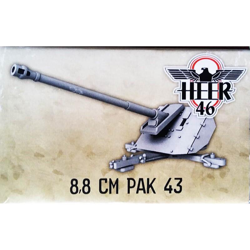 German 88mm PaK 43 Anti-tank gun 28mm WWII HEER46 - Frontline-Games