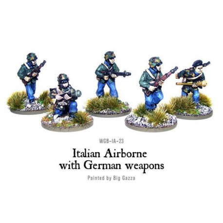 Italian Airborne with German weapons (Paratroopers) 28mm WWII WARLORD GAMES  - Frontline-Games