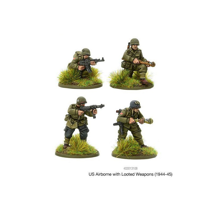 American U S  US Airborne with looted German weapons (1944-45) 28mm WWII  WARLORD GAMES - Frontline-Games