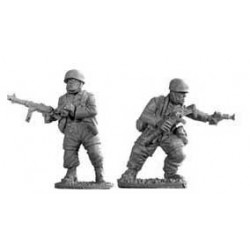 German Fallschirmjager Officers A 28mm